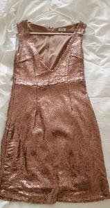 Rose gold Tobi cocktail dress